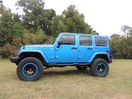 blue jeep 2014 jeep jk 4 door hydro blue texas truck works