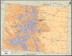 Colorado Usa Map by Colorado Counties Road Map Usa