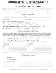 wedding reception planner wedding planner contract template baby shower