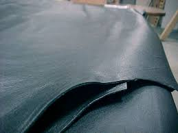 Black Upholstery Leather Full Cow Hides For Upholstery Or Garments For Sale