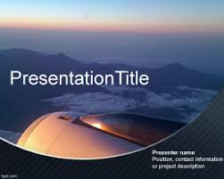 airplane powerpoint template is an attractive background with a