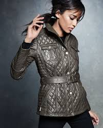Leather Barn Coat Neiman Marcus Quilted Leather Barn Coat