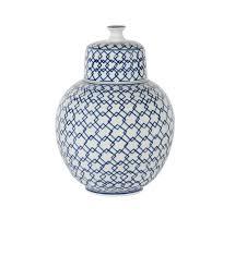 ginger jar blue u0026 white diamond ginger jar