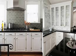 Backsplash With White Kitchen Cabinets Backsplash Black Granite White Cabinet Black Granite White Cabinet