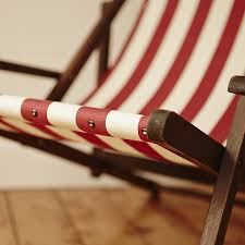 stripy vintage deck chair by deja ooh notonthehighstreet com
