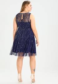 frock and frill curve cocktail dress party navy women clothing