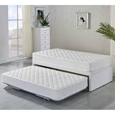 Cheapest Single Bed Frame Single Fabric Bed Base W Trundle 2 Mattresses Shopping Buy