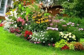 modren flower garden ideas for front of house simple bed design