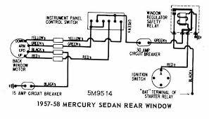 mercury sedan 1957 1958 rear window wiring diagram all about