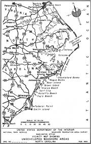 Map Of North Carolina Cities National Park Service Atlantic And Gulf Coasts Recreation Area