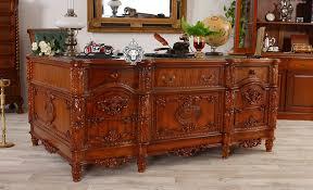 Schreibtisch Gross Schreibtisch Massivholz Mahagoni Groß Amazon De Küche U0026 Haushalt