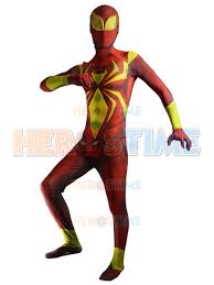 spider costume iron spider man armor morph fullbody suit