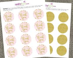 thank you tags pink gold glitter confetti thank you tags printable wedding baby
