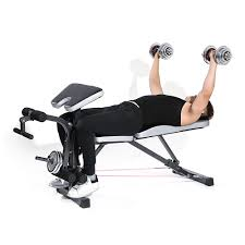 Adjustable Dumbbell Weight Bench Tomshoo Adjustable Multi Station Weight Sales Online Black