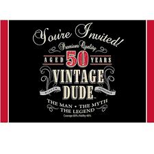 birthday invites chic invitations for 50th birthday party