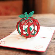 aliexpress buy 3d pop up handmade apple shape