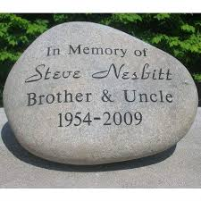 garden plaques garden memorial personalized river rock big hug llc