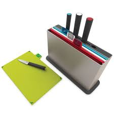 joseph joseph index advance with knives u2013 chopping board and knife set