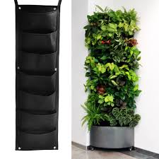 herb garden planter 7 pockets hanging vertical garden planter indoor outdoor herb pot