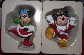 2 disney mickey minnie collectible ornaments by dco