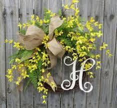 whimsical spring forsythia wreath jenna burger twig door swags forsythia door swag swags pinterest door