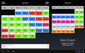shift work calendar android apps on google play