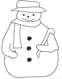 christmas snowman color kids print paint