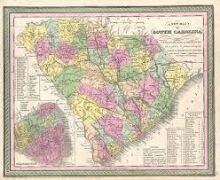Map Of Carolinas File 1850 Mitchell Map Of South Carolina With Charleston Inset