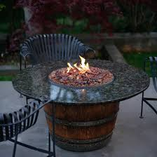 wine barrel fire table reserve 60 inch wine barrel fire pit table by vin de flame dining