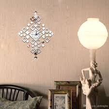 Chandelier Wall Stickers Imaginatively Decorated Bell Shaped Diamond Classic Lantern Clock