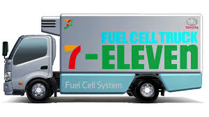 toyota company japan toyota 7 eleven partner on hydrogen fuel cell truck study