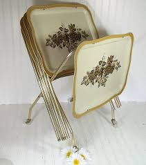 Folding Tray Table Set Marvellous Folding Tray Table Set Vintage Tv Trays Table Set Mid
