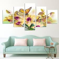Wall Flower Decor by Flower Painting Wall Pictures For Living Room Flower Painting