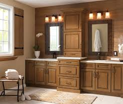 Cherry Glaze Cabinets Glazed Cabinets In Casual Bathroom Kitchen Craft Cabinetry