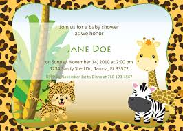 baby shower invites free templates how to create jungle baby shower invitations free egreeting ecards