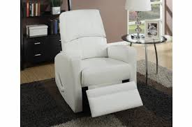 swivel recliner wiv white leather swivel recliner steal a sofa furniture outlet