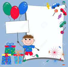 Bday Invitation Cards For Kids Celebration Or Invitation Card Royalty Free Cliparts Vectors And