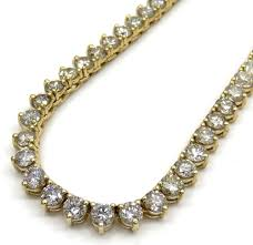 mens chains necklace images 14k yellow gold 3 prong round diamond tennis link chain 27 50 jpg