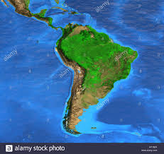 South America Rivers Map by Detailed Satellite View Of The Earth And Its Landforms South