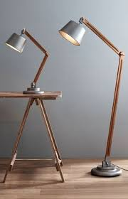 Anglepoise Floor Lamp Vintage Copper With Wooden Arms Traditional Extra Large Anglepoise