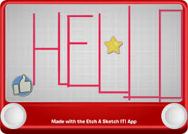 draw yourself with toronto developed etch a sketch it app of the