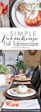 simple farmhouse fall tablescape cherished bliss