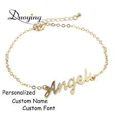 Personalized Name Bracelets Aliexpress Com Buy Duoying Custom Name Bracelet Personalized