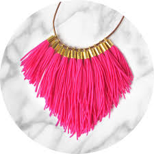 necklace jewelry australia images Tassel necklace fabulous fringe pink neon unique art jewellery jpg