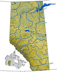 Usa Rivers Map by List Of Rivers Of Alberta Wikipedia