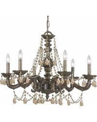 Bronze Chandelier With Crystals Deal Alert Crystorama Sutton Collection 6 Light Venetian Bronze