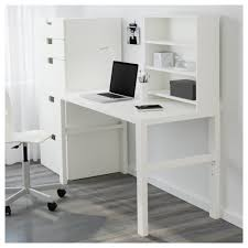 White Writing Desk With Hutch by