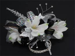 black and white corsage corsages florist in o fallon il larosa s flowers il
