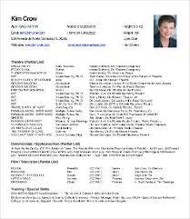theatre resume theatre resume 8 free pdf word documents free