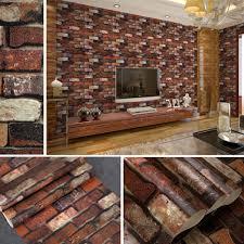 rustic vintage vinyl 3d effect retro embossed red brick wall